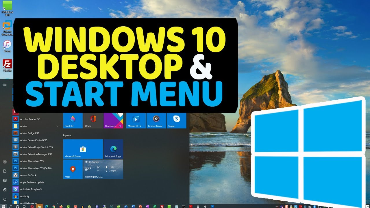 Windows 10 Start Menu, Taskbar & Start Screen Tutorial [+Tips and Tricks]