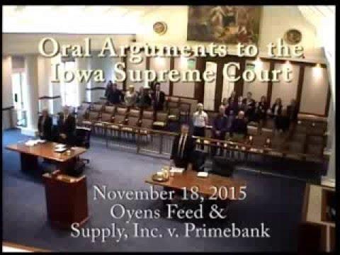 15–0806 Oyens Feed & Supply, Inc. v. Primebank, November 18, 2015
