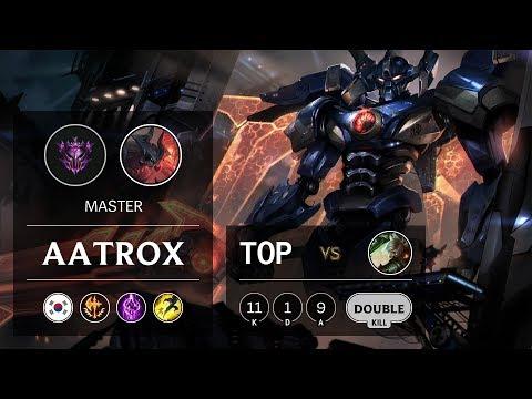 Aatrox Top vs Riven - KR Master Patch 9.10