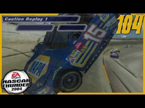 MIKEY UP AND OVER AT DEGA... AGAIN | NASCAR Thunder 2004 Career Mode S4 Ep. 104