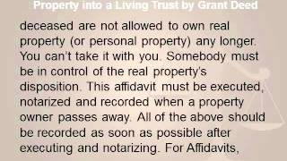 LA Probate Law Discusses Transferring Real Property into a Living Trust by Grant Deed.wmv