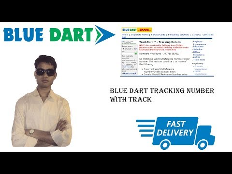 Blue dart courier tracking using Waybill No and Reference No