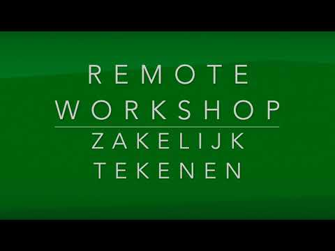 Behind the scenes  -  remote workshop Zakelijk Tekenen