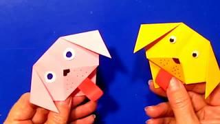 Супер поделка 2018: открытка - собака оригами Подарки Своими Руками