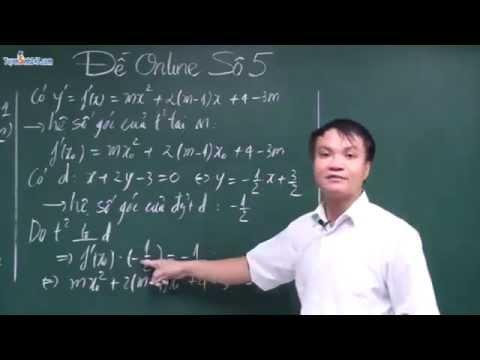 Tiếp tuyến của hàm số   Luyện thi THPT QG  Đại học môn Toán 2015