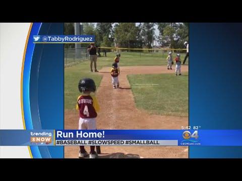 TRENDING: Little Baseball Player Scores Run In Slow Motion