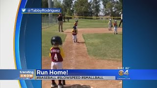 TRENDING: Little Baseball Player Scores Run In Slow Motion