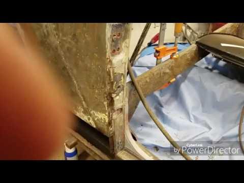 Repairing convertible vw bug door jam