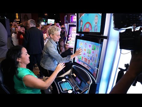 Ellen Surprises Slots Players at MGM Grand Las Vegas