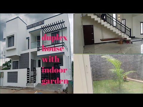 New duplex home design / individual house indoor garden