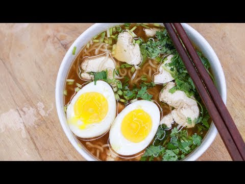 Ramen Recipe | Chicken Ramen Noodles Soup | Ramen Recipe With Maggi Noodles | Homemade Ramen Recipe