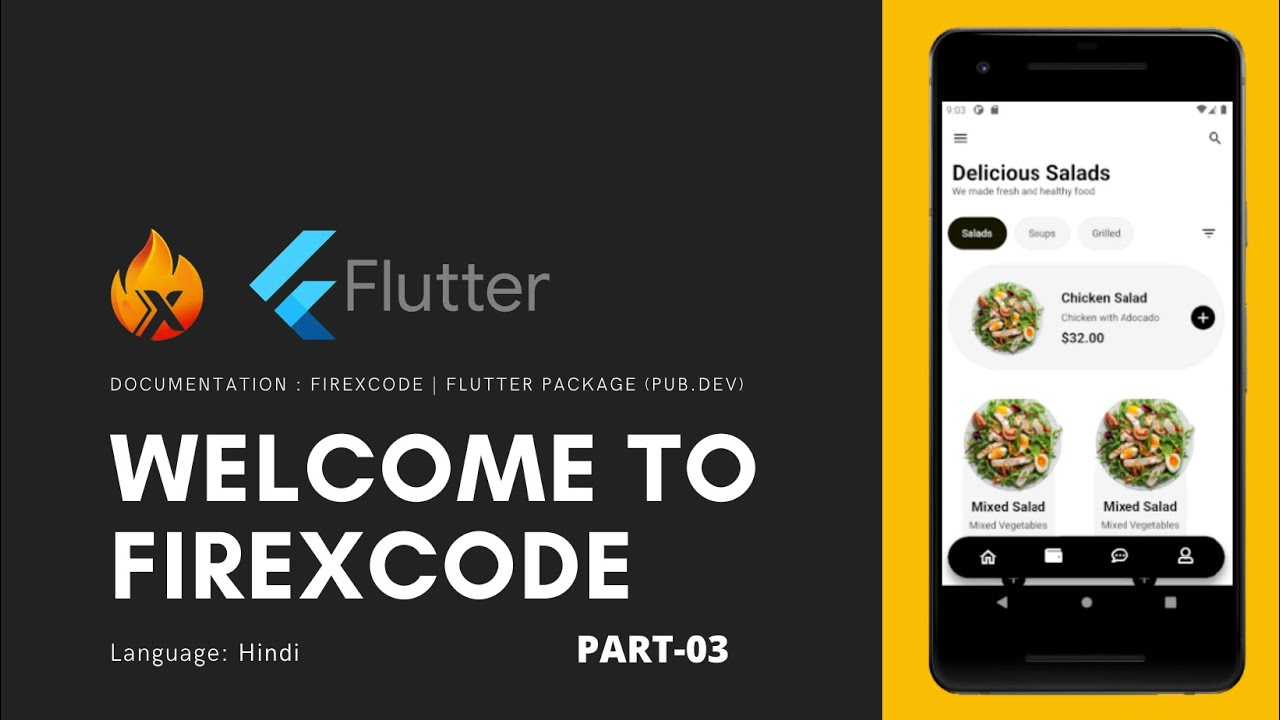 Flutter Tutorial || FireXcode Food App  🔥🔥🔥  | in Hindi