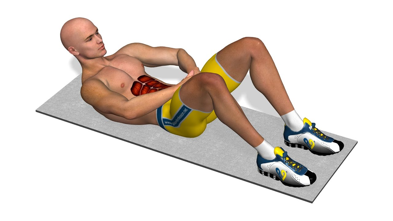 Exercices Abdos Crunch Par Poussee Des Mains Youtube