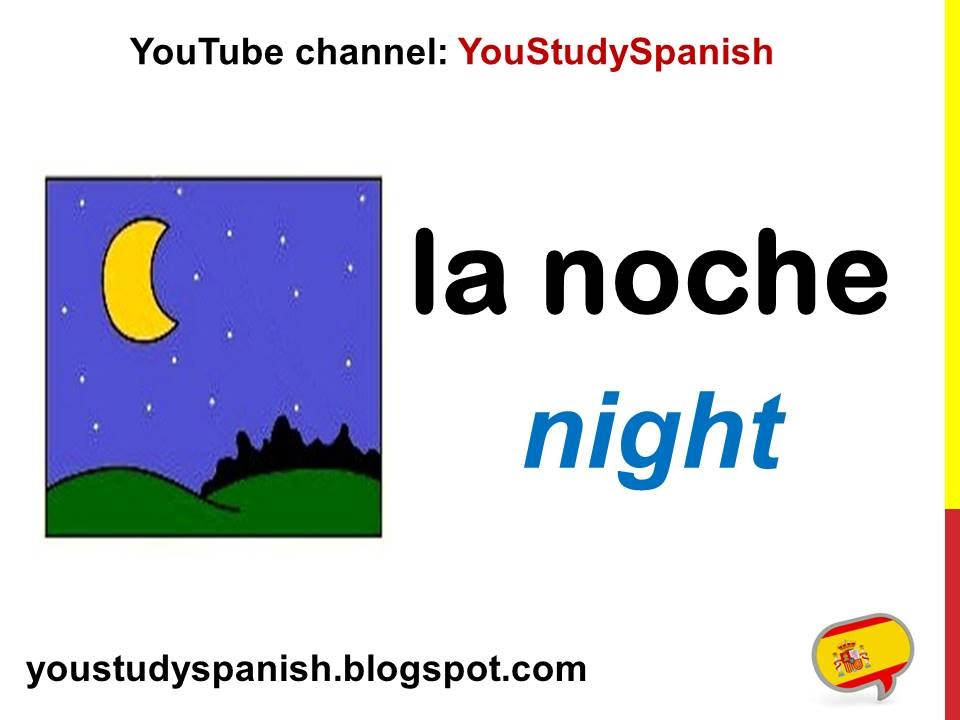 Spanish Lesson 13 - PARTS OF THE DAY in Spanish Morning