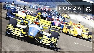 Forza 6 - Recreating The Indy 500! (Battle for 1st, Near Misses)