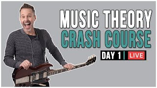 Music Theory Crash Course (Day 1) LIVE + Q&A!