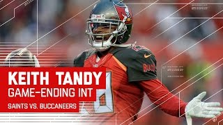 Keith Tandy Intercepts Drew Bees to Seal the Win! | Saints vs. Buccaneers | NFL Week 14 Highlights