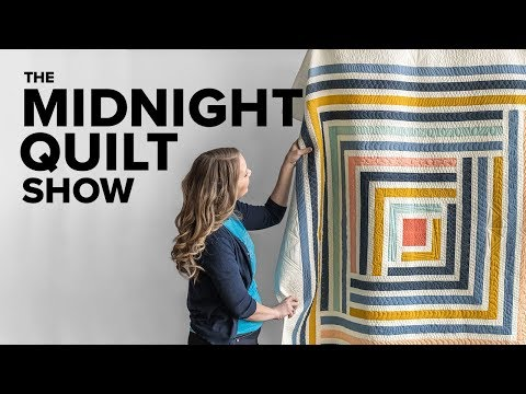 The Cozy Campfire Quilt, a Modern Log Cabin Designed by Suzy Williams