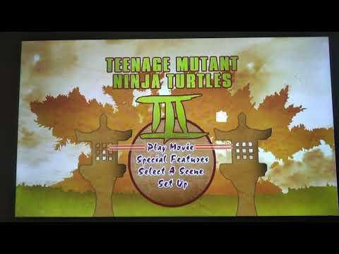 Teenage Mutant Ninja Turtles 3 (1993) - Main Menu (DVD)