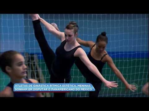 Atletas de ginástica rítmica estética sonham em disputar campeonato no México