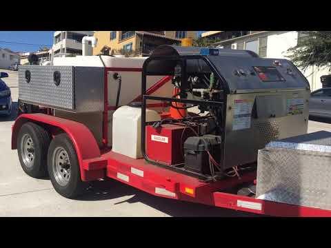 Hydro Jetting Equipment Plumbing Service Demonstration Coastal Drain Cleaning San Diego California