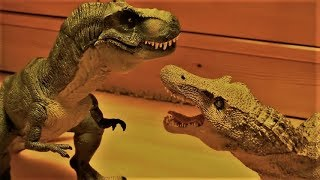 T-Rex vs Spinosaurus - Stop Motion (With SFX)