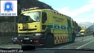 Tunnel fire response // Départ incendie tunnel - véhicules spéciaux GEF/SDIS 73