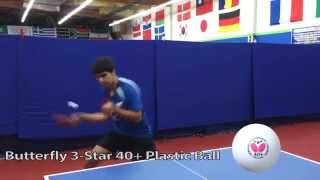 Butterfly 3-Star 40+ Plastic Ball featuring Kunal Chodri