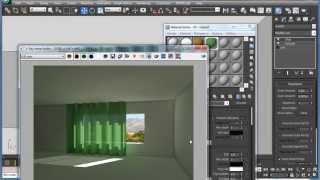 Как сделать, чтобы шторы пропускали свет. Видеоурок 3ds max и Vray