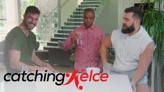 "Travis' Friends Poke Fun at ""Catching Kelce"" Ladies 