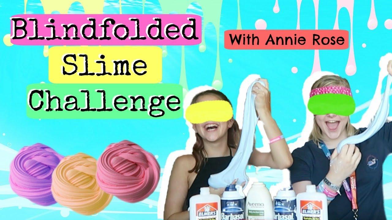 Blindfolded Slime Challenge! | Ft. Annie Rose! - YouTube