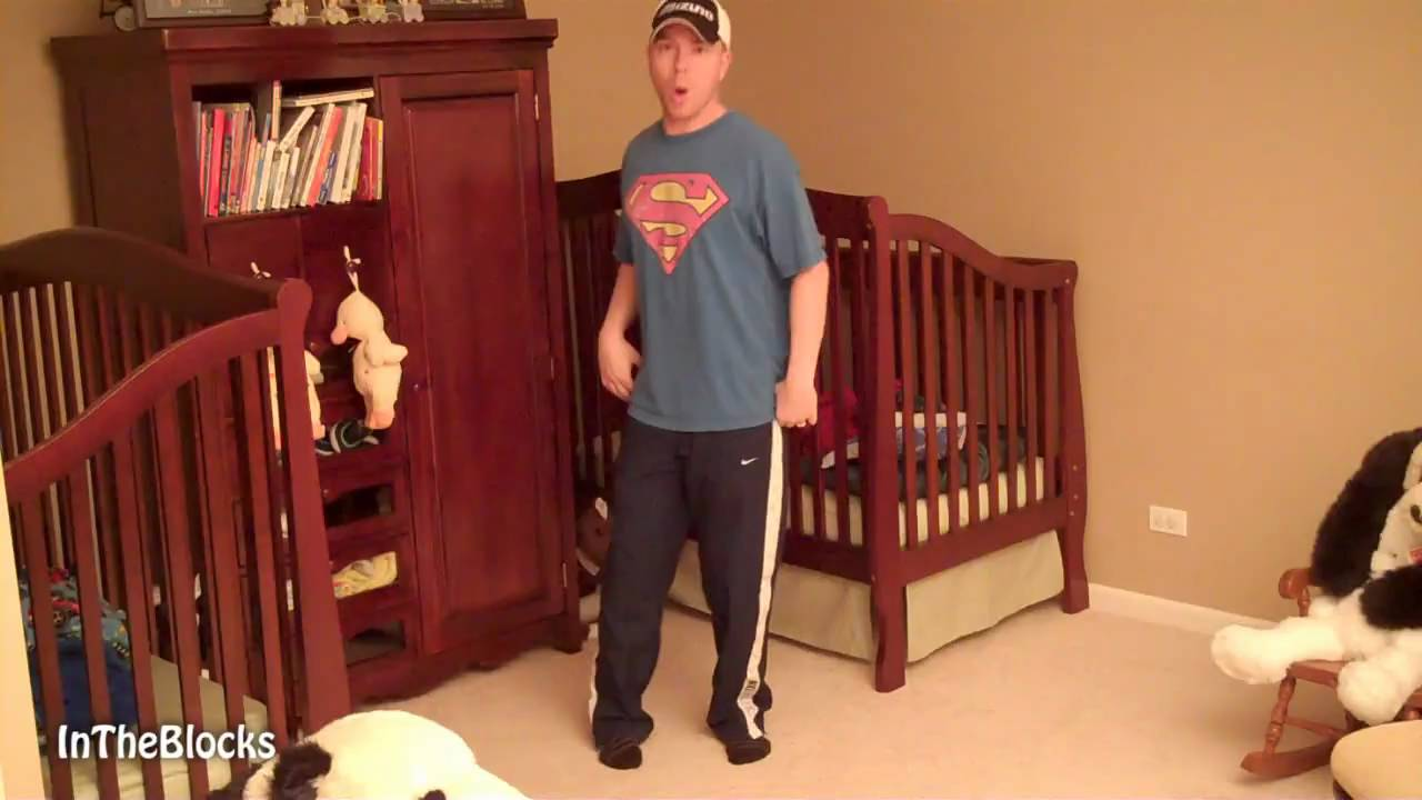 Super Daddy Transforms Twin Cribs To Beds Youtube