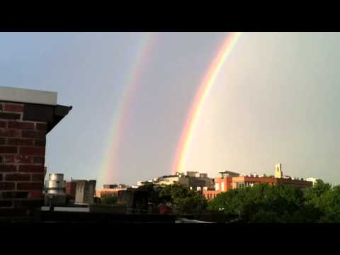 Double Rainbow! Viewed from a South End Boston Roof Deck