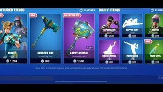 FORTNITE 'NOUVEAU' MOXIE SKIN ' CLOBBER AXE ' FADED COOL WRAP!