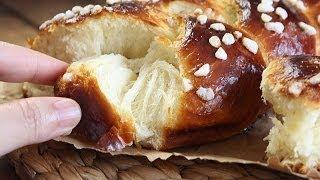Recette de brioche tressée / Plaited white loaf recipe / وصفة بريوش الضفيرة