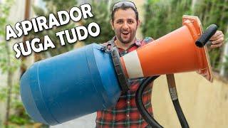Faça um aspirador turbinado com cone de rua