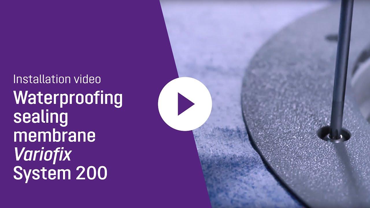 Installation video waterproofing sealing membrane KESSEL Variofix shallow bed