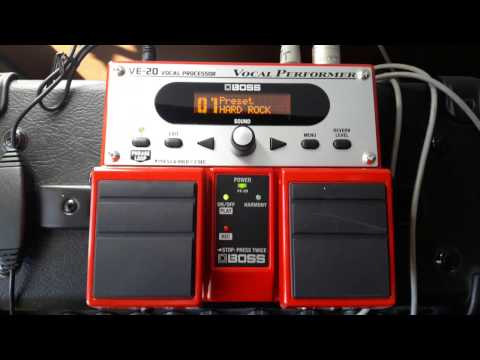 New Boss VE-20 Vocal Processor for Terry Roberts of Karma in Spain