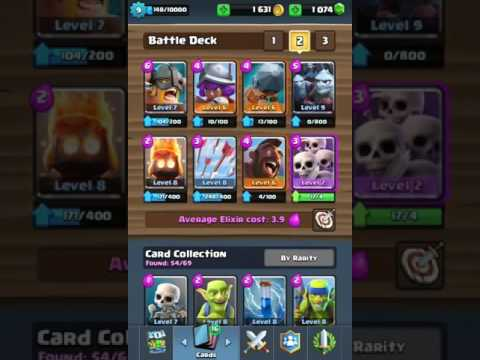 Clash royale new battle ram deck for arena 7 no for Clash royal deck arene 7