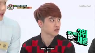 [ENGSUB] 130814 EXO WI CUT! Handsomest ranked by D.O