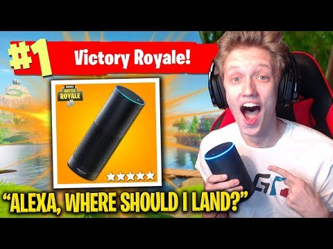 AMAZON ALEXA HELPS ME WIN In Fortnite: Battle Royale!
