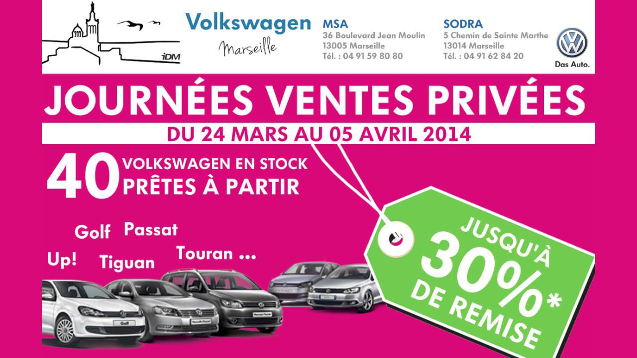 journ es ventes priv es aux concessions volkswagen. Black Bedroom Furniture Sets. Home Design Ideas