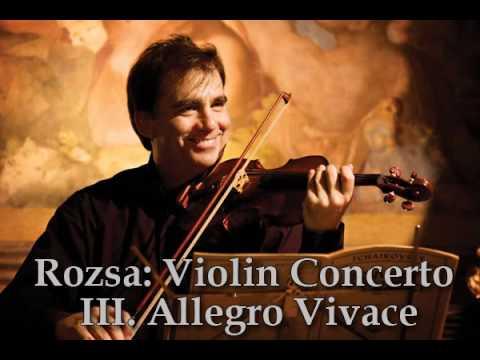 Robert McDuffie - Rozsa: Violin Concerto III. Allegro Vivace