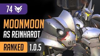MoonMoon Replay - As Reinhardt on Hollywood / Overwatch [PC] High Ranked Gameplay