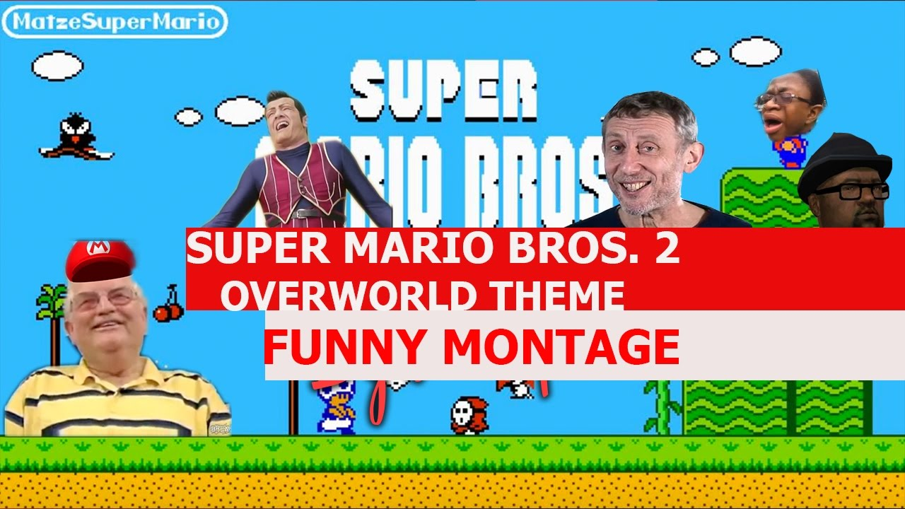 super mario bros 2 overworld theme remix funny montage youtube. Black Bedroom Furniture Sets. Home Design Ideas
