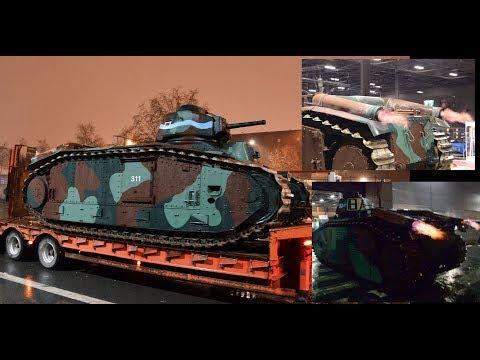 Char B1bis with huge BACKFIRES - Retromobile 2018