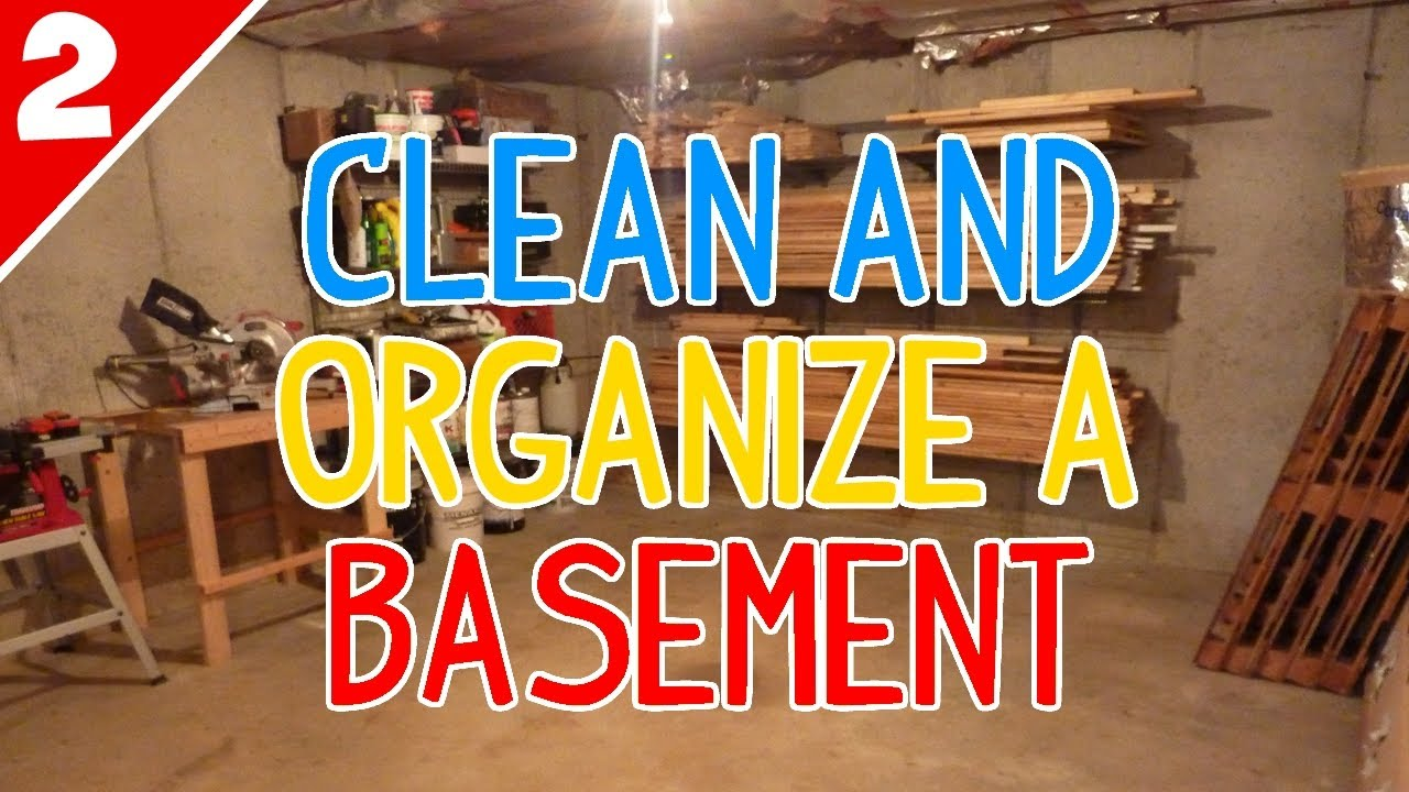 clean organize a messy basement part 2 of 2 youtube. Black Bedroom Furniture Sets. Home Design Ideas