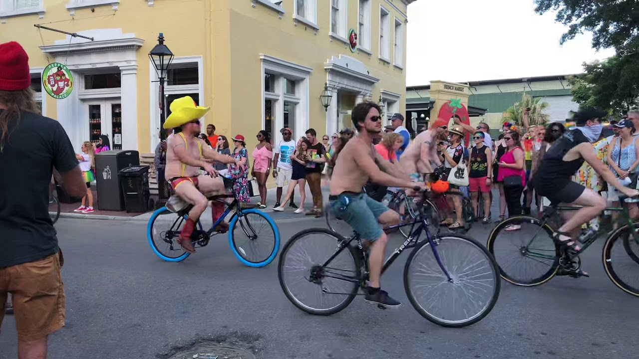 Image result for new orleans naked bike riding you tube