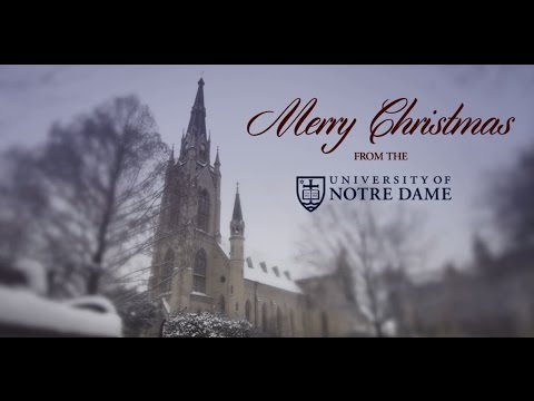 Merry Christmas from the University of Notre Dame 2013