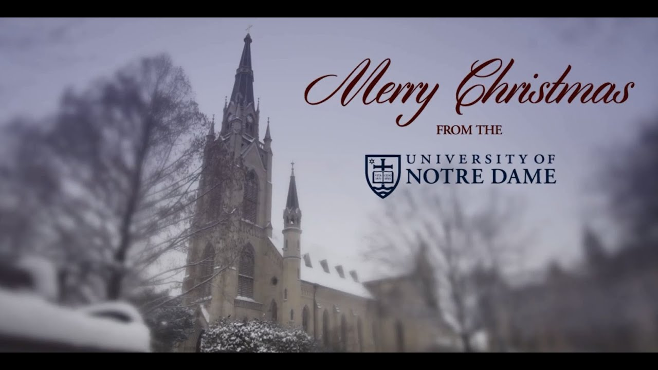 Merry Christmas from the University of Notre Dame 2013 - YouTube